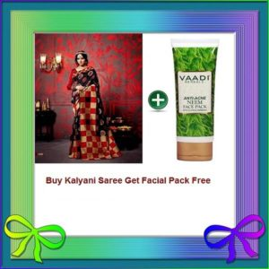 Black Saree Get Facial Pack Free