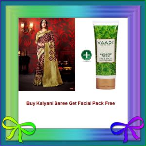 Currant Saree Get Facial Pack Free