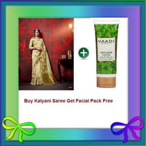 Gold Saree Get Facial Pack Free