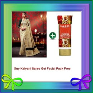 Lvory Saree Get Facial Pack Free
