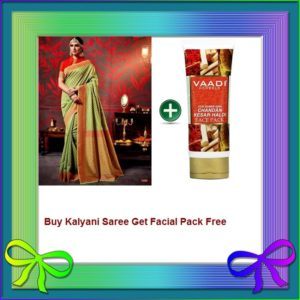 Olive Saree Get Facial Pack Free