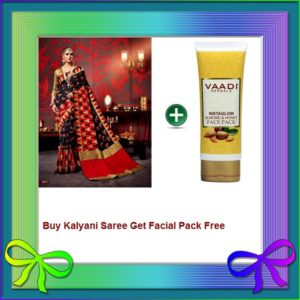 Red Saree Get Facial Pack Free