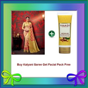 Rose Saree Get Facial Pack Free