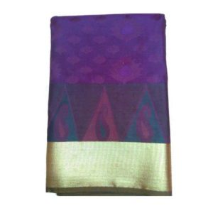 Work Violet Saree