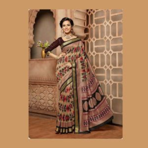Work Brown Saree