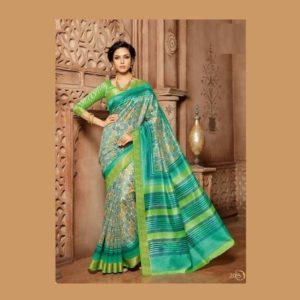 Work Light Green Saree