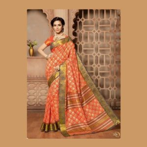 Light Orange Saree