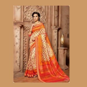 Work Orange Saree
