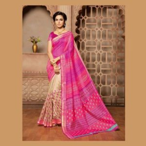 Work Rose Saree